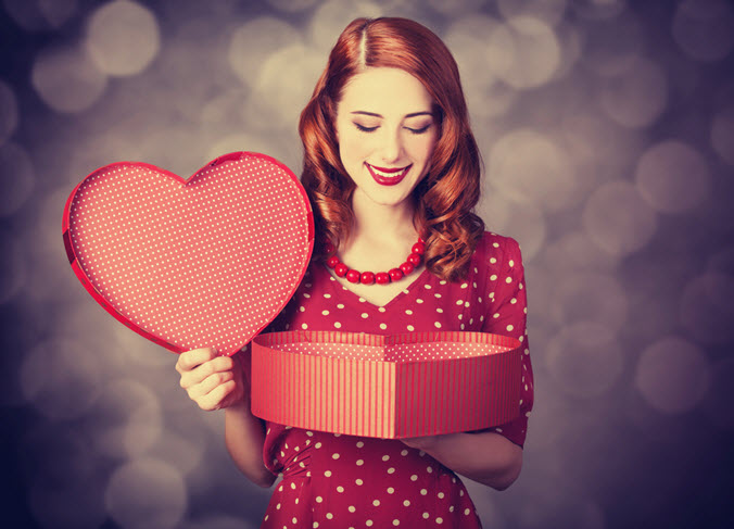 red head on valentine's day