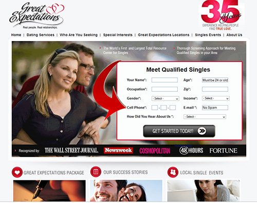 Great Expectations Dating Service Login