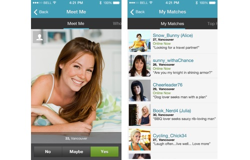 Pof dating basic search page