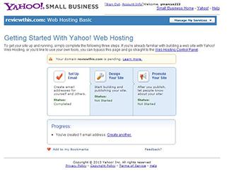 Email setup confirmation